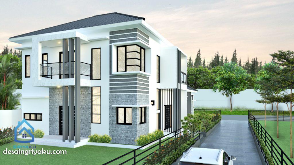 rumah 15x80 2 lantai 1024x576 - Rumah Lebar diatas 10 meter