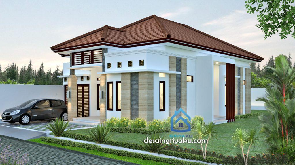 rumah 10 x 17 etnik 1024x576 - Rumah Lebar 10 meter