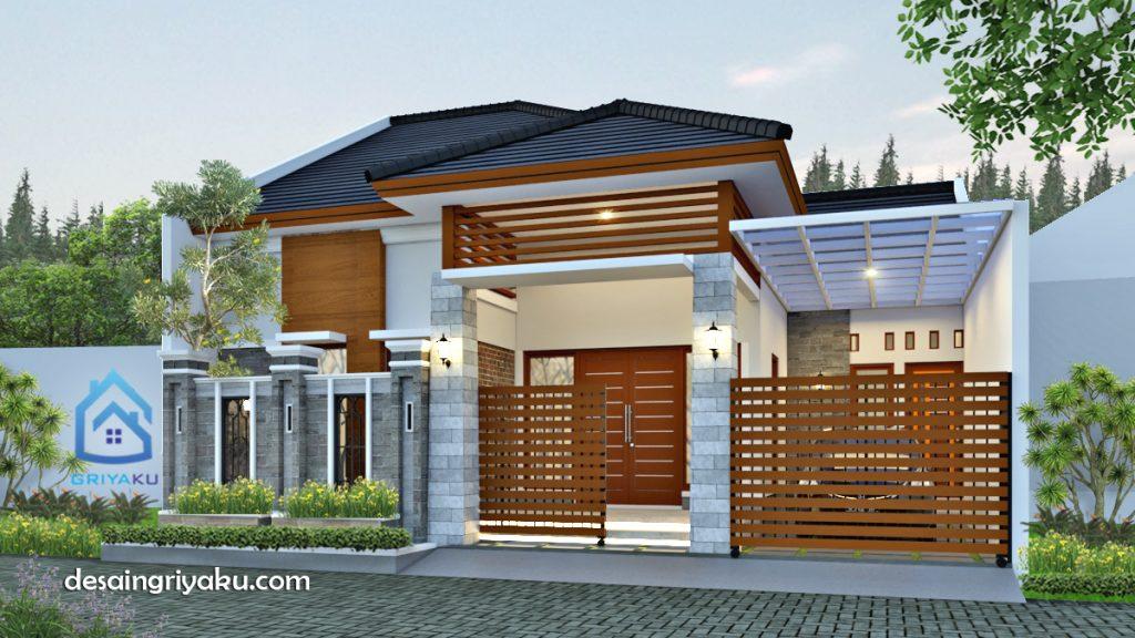 rumah 10 x13 tropis 1024x576 - Rumah Lebar 10 meter