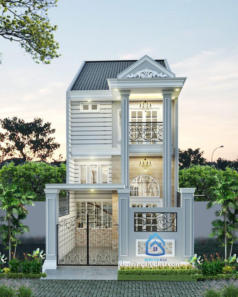 rumah 6 x 17 classic 819x1024 - Rumah Lebar 6 meter