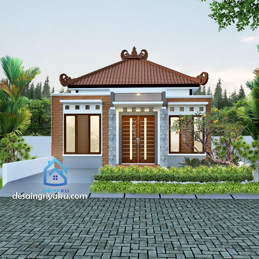 rumah type 45 etnik - Rumah Lebar 8 meter