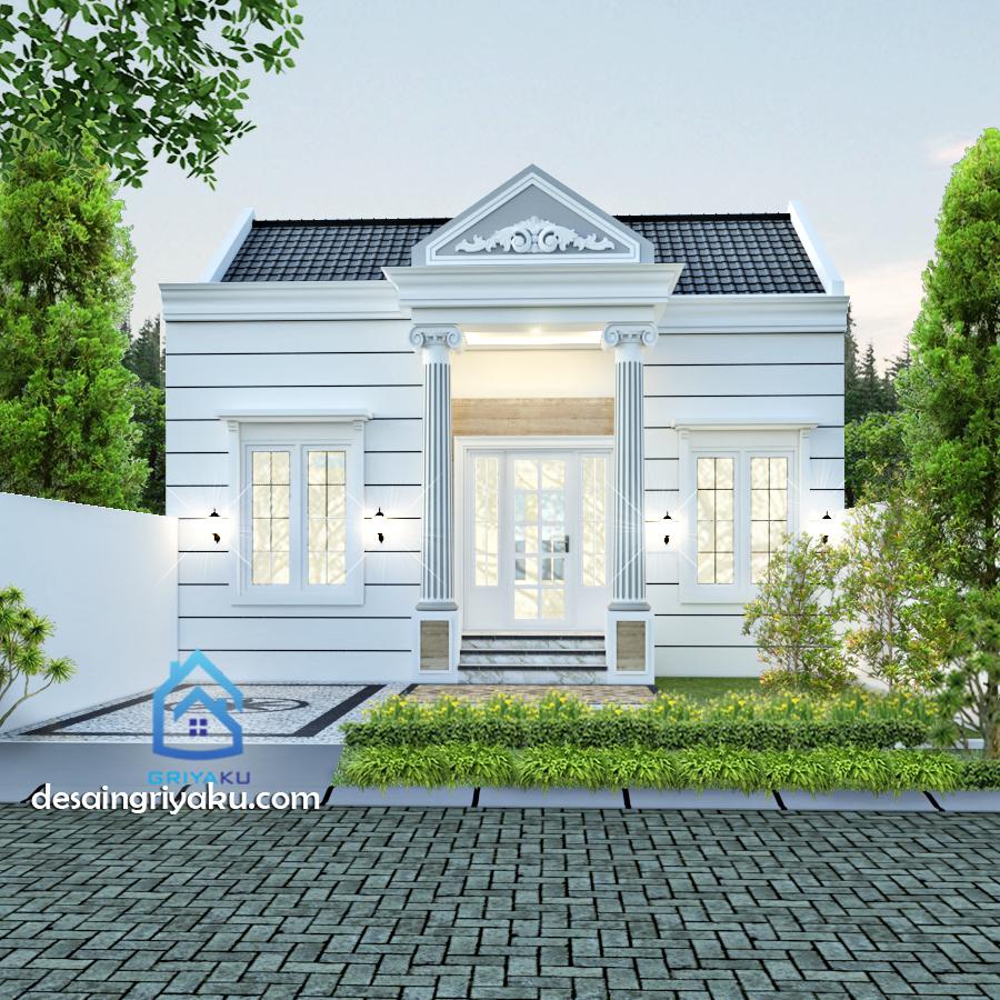 rumah type 45 klasik - Rumah Lebar 8 meter