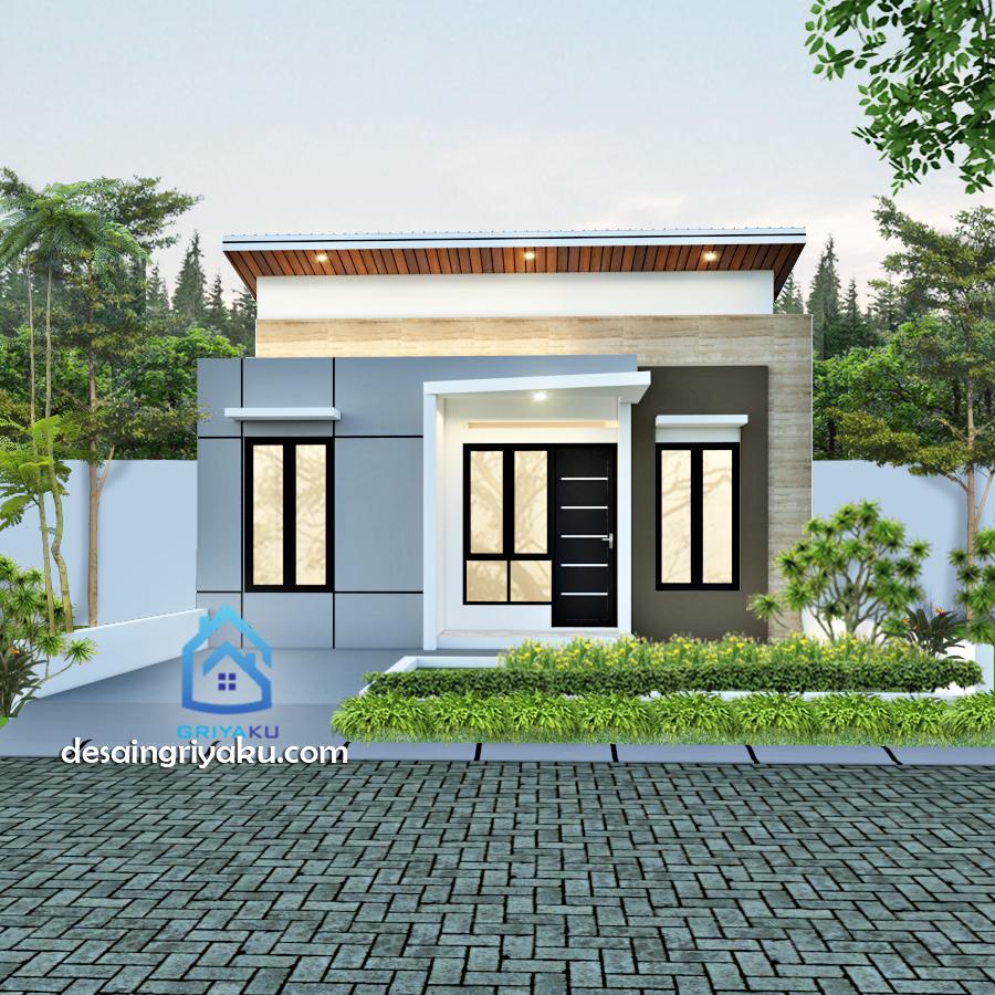 rumah type 45 kontemporer - Rumah Lebar 8 meter