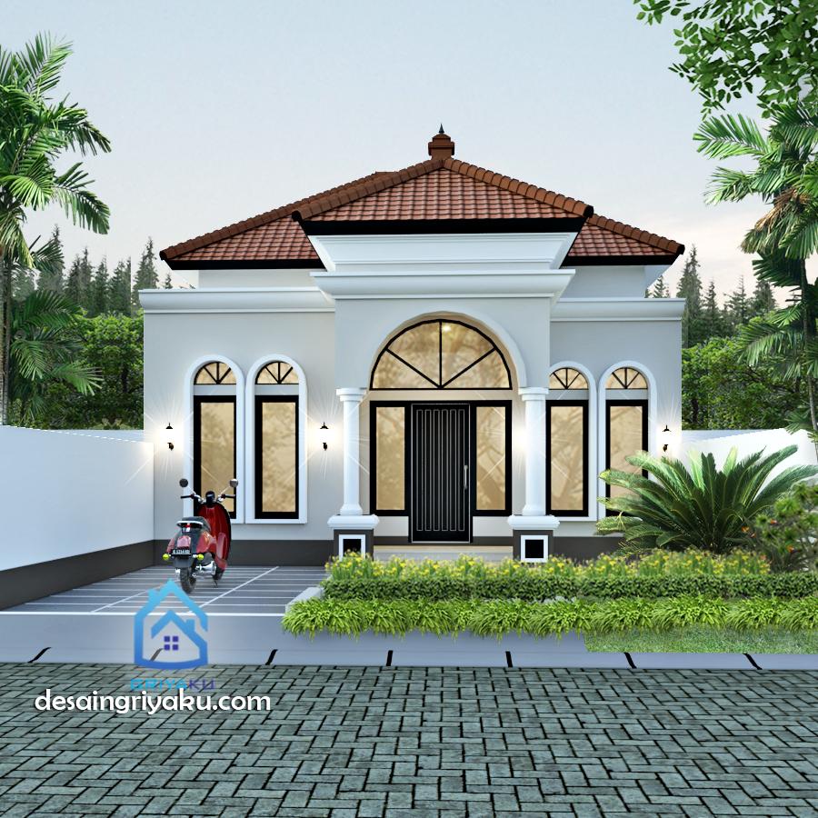 rumah type 45 mediterania - Rumah Lebar 8 meter