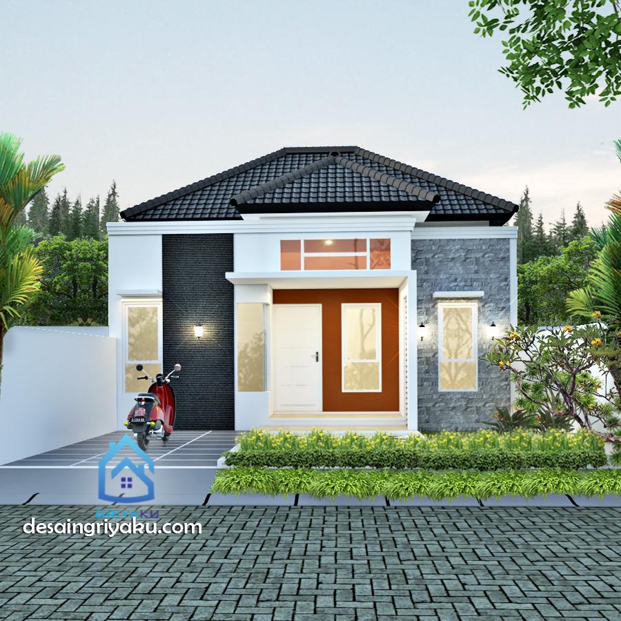 rumah type 45 tropis minimalis - Rumah Lebar 8 meter